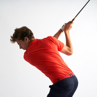 POLO GOLF HOMME ROUGE CORAIL