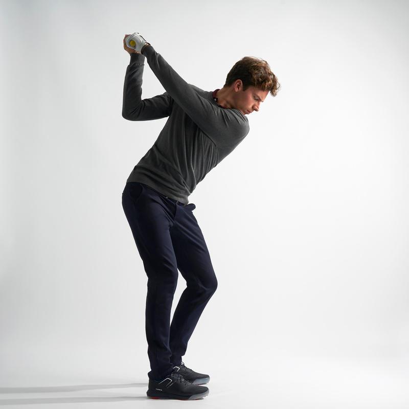 Men's Golf Pullover - Dark Grey