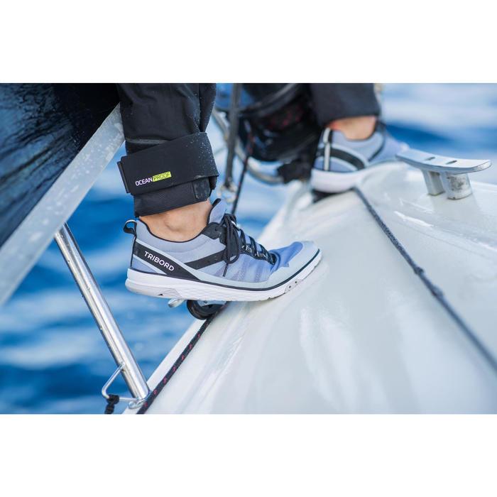 Chaussures de régate mixte gris noir
