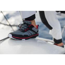 Bootschoenen voor dames en heren die wedstrijdzeilen Race zwart/rood