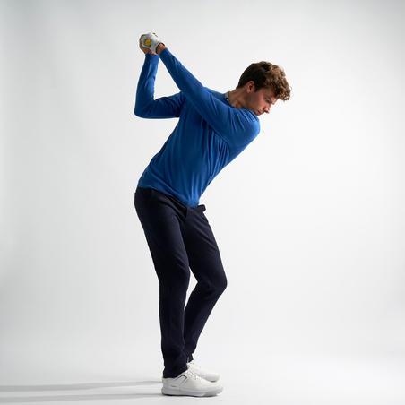 Men's golf trousers MW500 navy blue