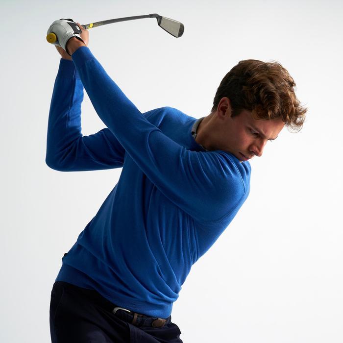 Golf Pullover Herren electric blue meliert