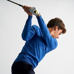 Men's Golf Pullover - Heather Electric Blue