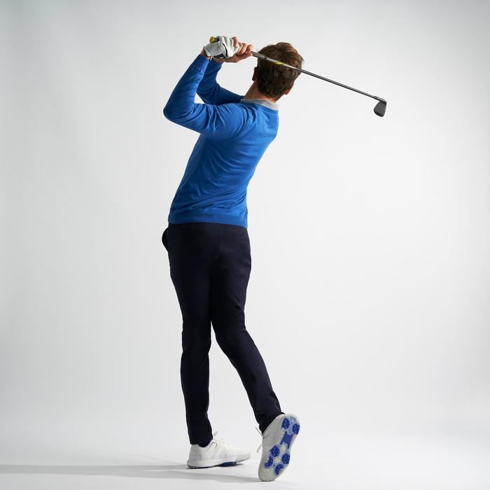 Golftrui voor heren gemêleerd blauw