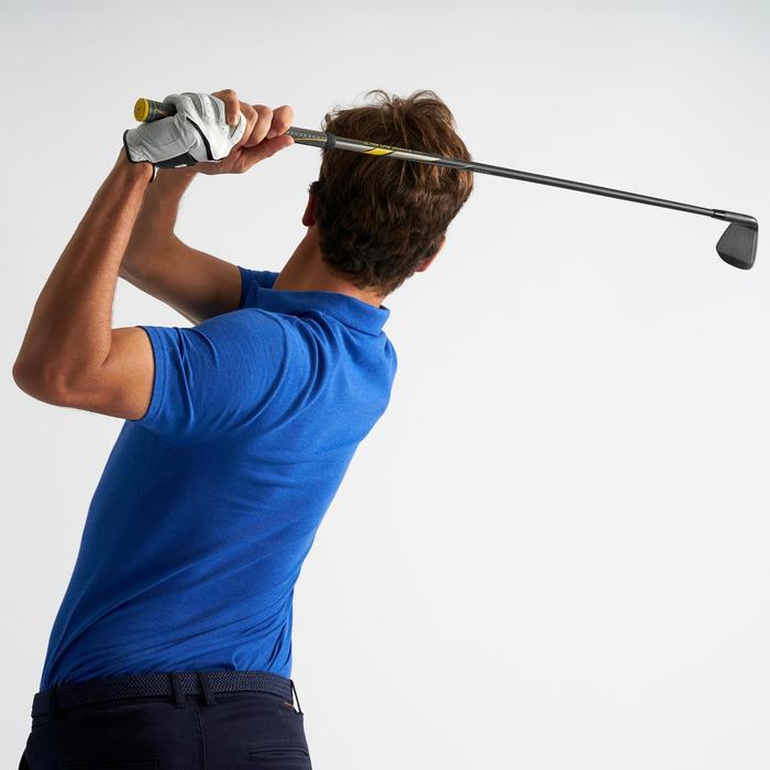 Golfpolo voor heren gemêleerd felblauw