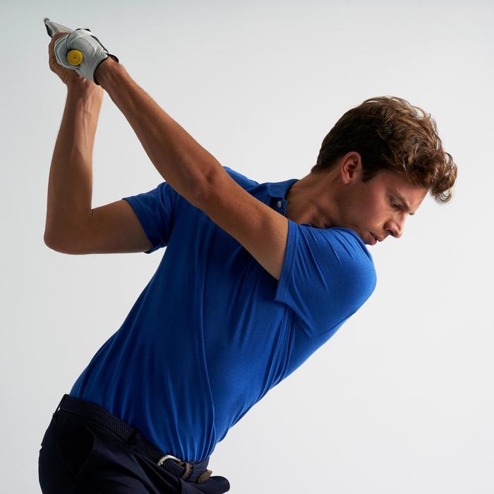 Golf Poloshirt Herren electric-blau meliert