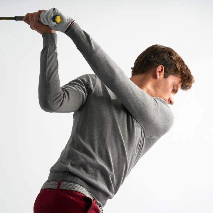 Golftrui voor heren ronde hals zacht weer grijs