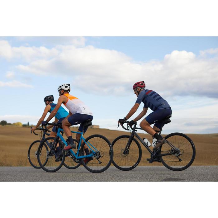 Maillot vélo route sans manches homme temps chaud RC500 bleu