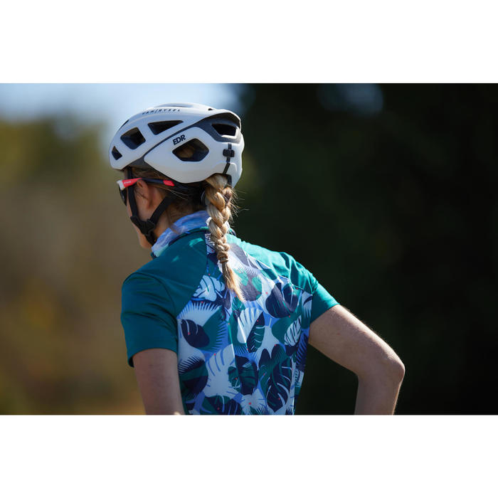 Kurzarm-Radtrikot Rennrad RC 500 Damen grün
