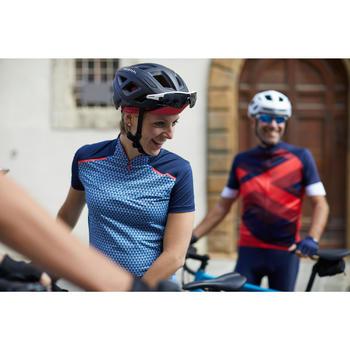 Kurzarm-Radtrikot Rennrad RC 500 Damen blau