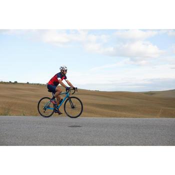Kurzarm-Radtrikot Rennrad RC 500 X Herren rot/blau