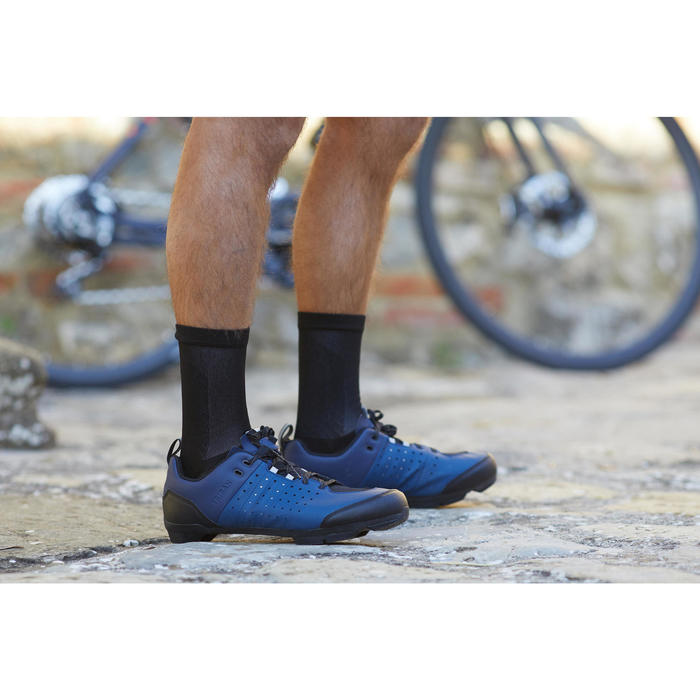 Fahrradschuhe Rennrad RC 500 (für SPD Cleats) BLAU/NAVY