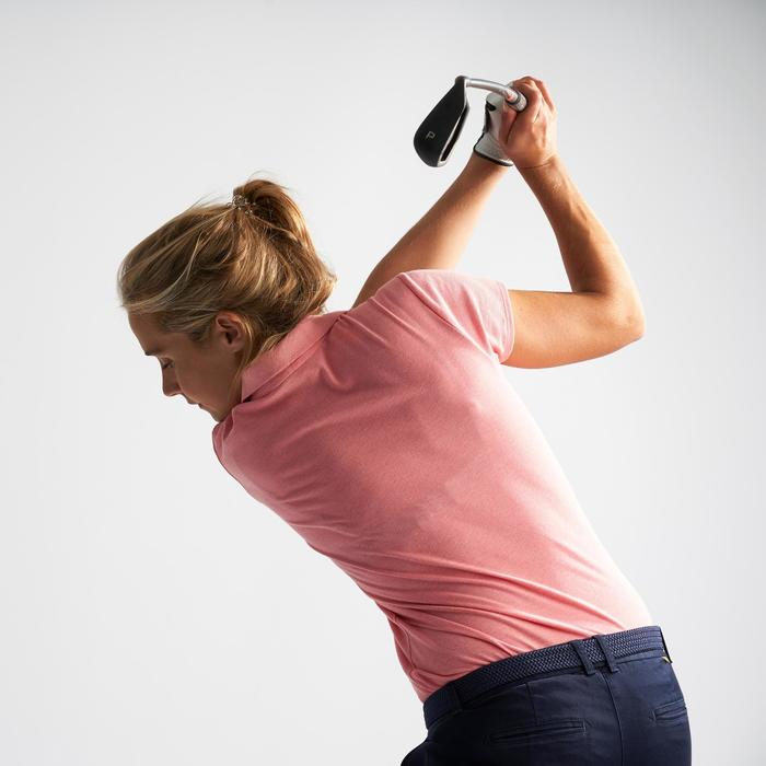 PALE PINK WOMEN'S SHORT-SLEEVED MILD WEATHER GOLFING POLO