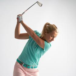 Golf Poloshirt kurzarm Damen türkis