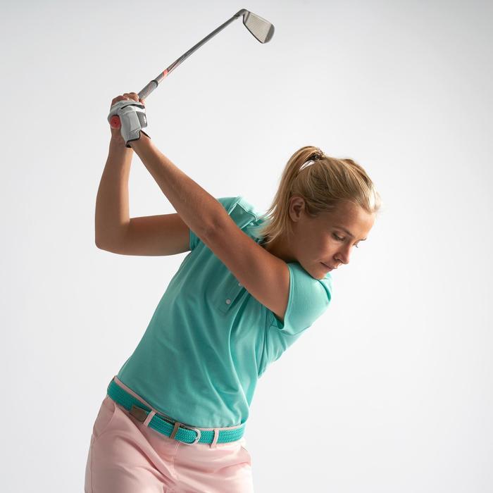 女款高爾夫POLO衫-淺碧藍色/綠色