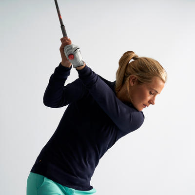 WOMEN'S GOLF PULLOVER - NAVY BLUE
