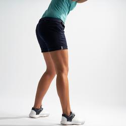 Golfbermuda voor dames marineblauw