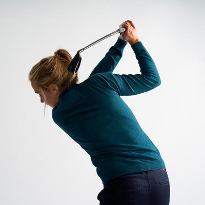 Women's Golf Pullover - Petrol Blue