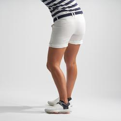 Golfbermuda voor dames wit