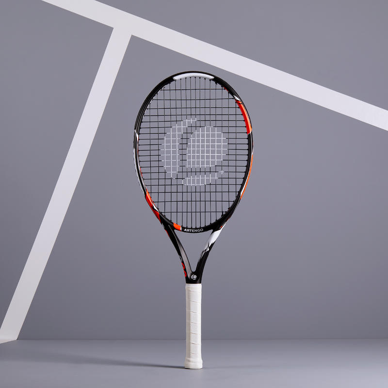 TR900 26 Kids' Tennis Racquet - Black/Orange