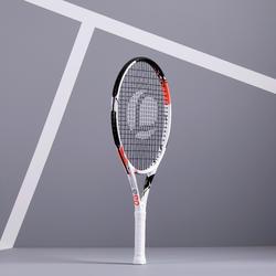"""Tennisschläger TR990 Kinder 25"""" besaitet weiß/rosa"""