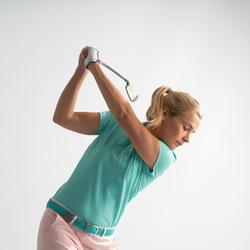 Golf Poloshirt Damen türkisgrün