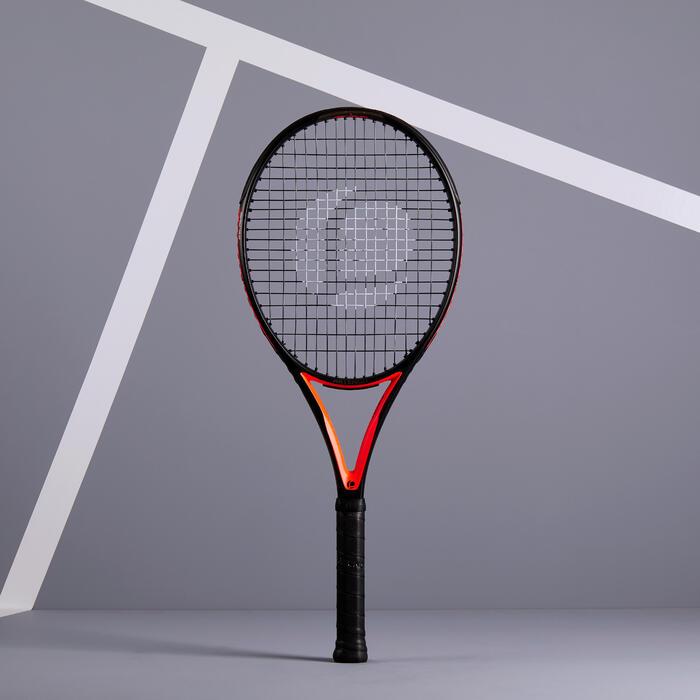 RAQUETTE DE TENNIS ADULTE TR900 NOIR ORANGE