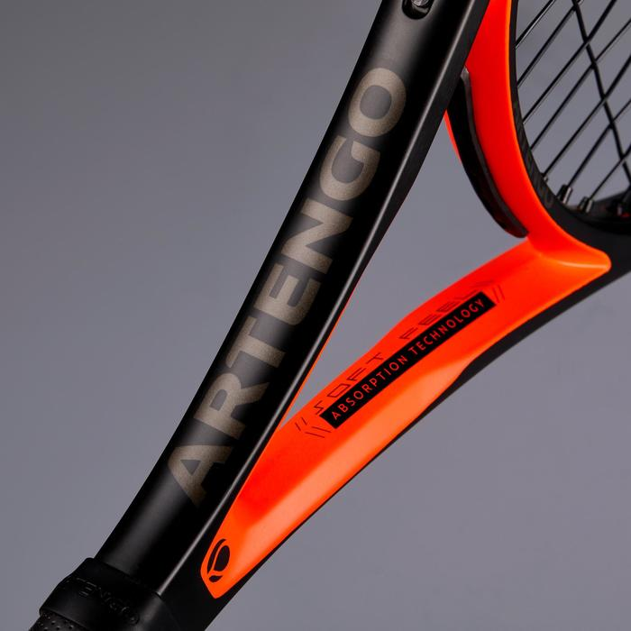 成人款網球拍TR900-黑色/橘色