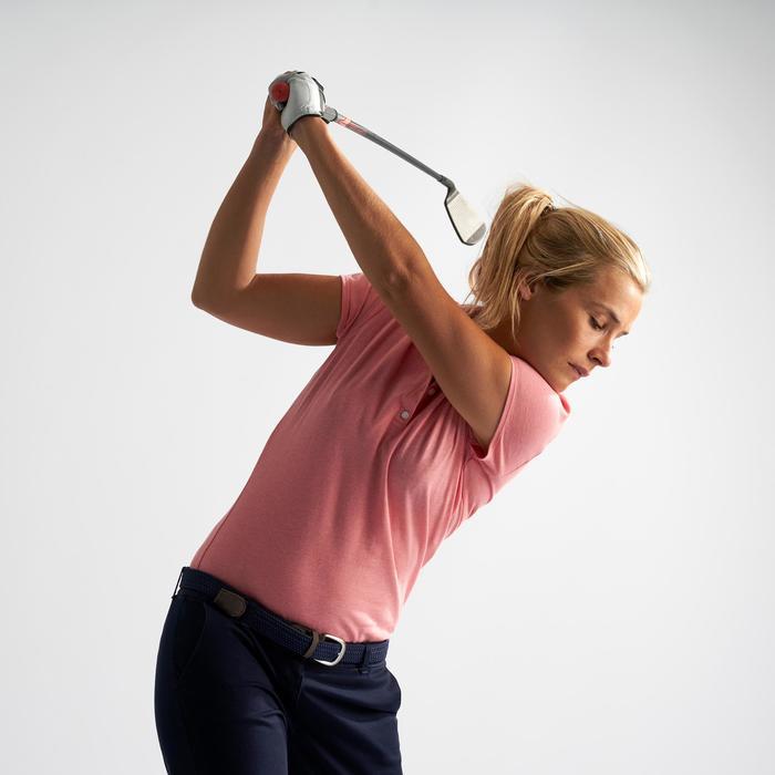 Golf Poloshirt Kurzarm Damen blassrosa