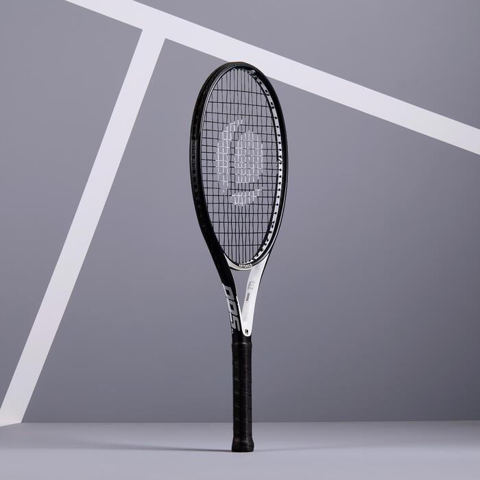 Tennisschläger TR500 Oversize Erwachsene schwarz/weiß