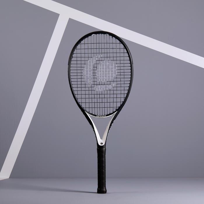 Tennisschläger TR500 Oversize besaitet schwarz/weiß