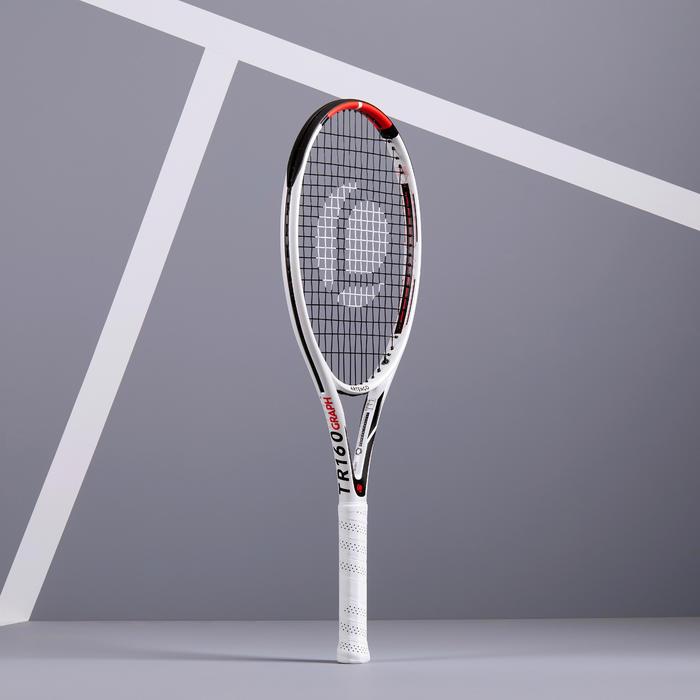 Tennisracket voor volwassenen TR160 Graph wit