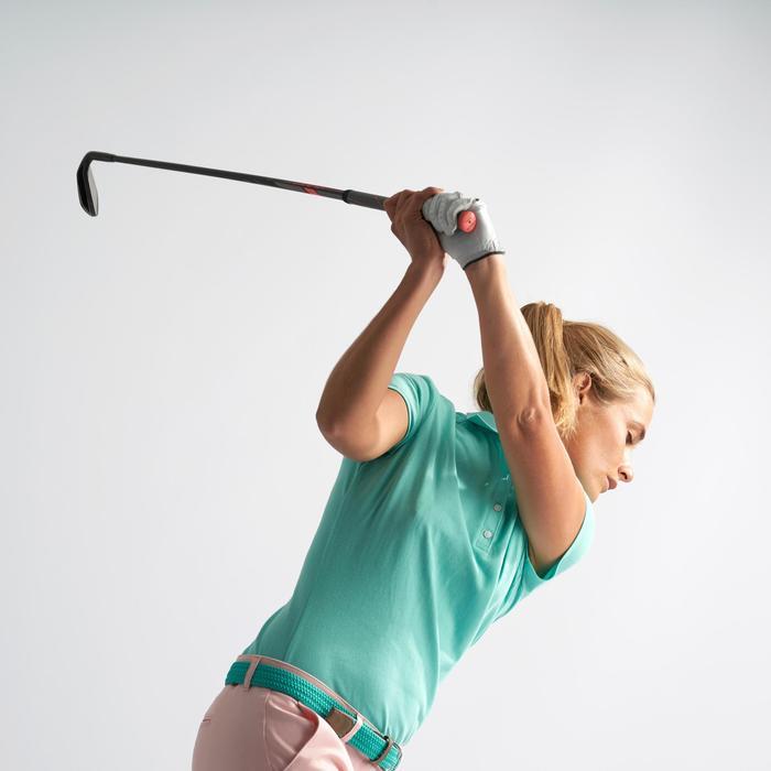 女款溫和氣候短袖高爾夫球POLO衫-碧藍色