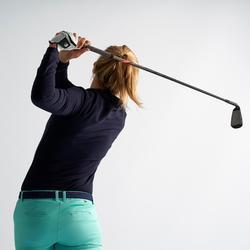 Golf Poloshirt Langarm Damen marineblau