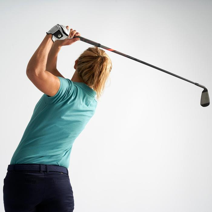Golfpolo voor dames donkerturquoise