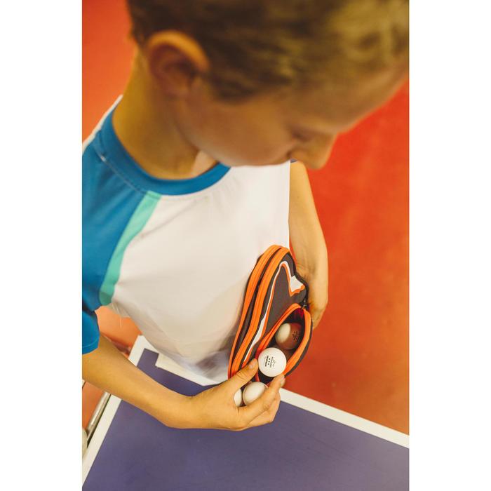 TTC 130 Table Tennis Bat Cover - Grey/Orange