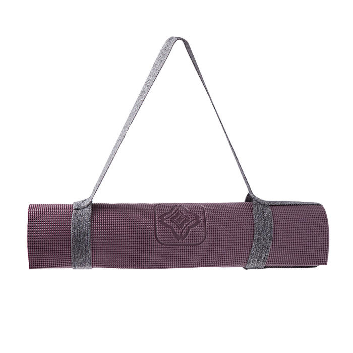 Yogamatte 8 mm bordeaux