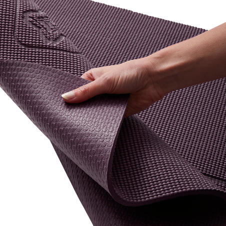 TAPIS YOGA DOUX CONFORT 8 MM BORDEAUX