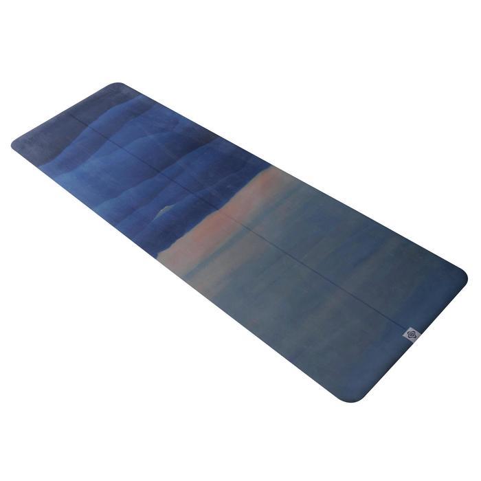 Yogamatte Mattenauflage für unterwegs 1,5 mm bedruckt mit Bergmotiv