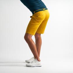 Bermuda de golf pour hommes jaune