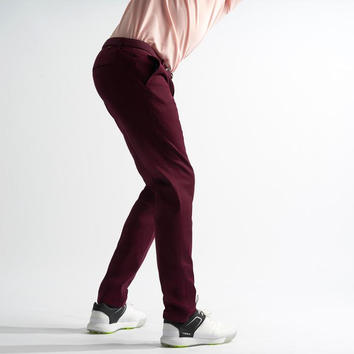 Golfbroek voor heren bordeaux