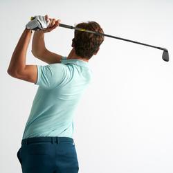 Golf Poloshirt kurzarm Herren türkis meliert