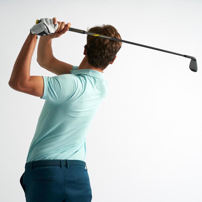 Men's Golf Short Sleeve Polo Shirt - Mottled Mint