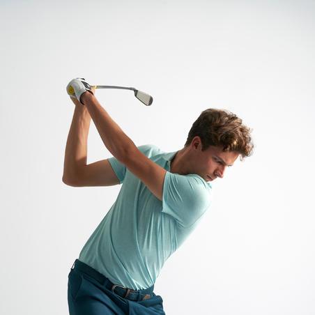 Men's golf short-sleeved polo shirt MW500 mottled mint