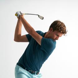 Golfpolo voor heren korte mouwen zacht weer donker petroleumblauw