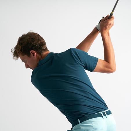 Men's golf short-sleeved polo shirt MW500 petrol