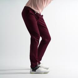 Golfbroek voor heren zacht weer bordeaux