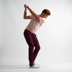 男款溫和氣候高爾夫長褲-酒紅色