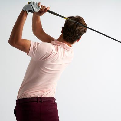 Polo Golf Hombre Rosa Claro Manga Corta