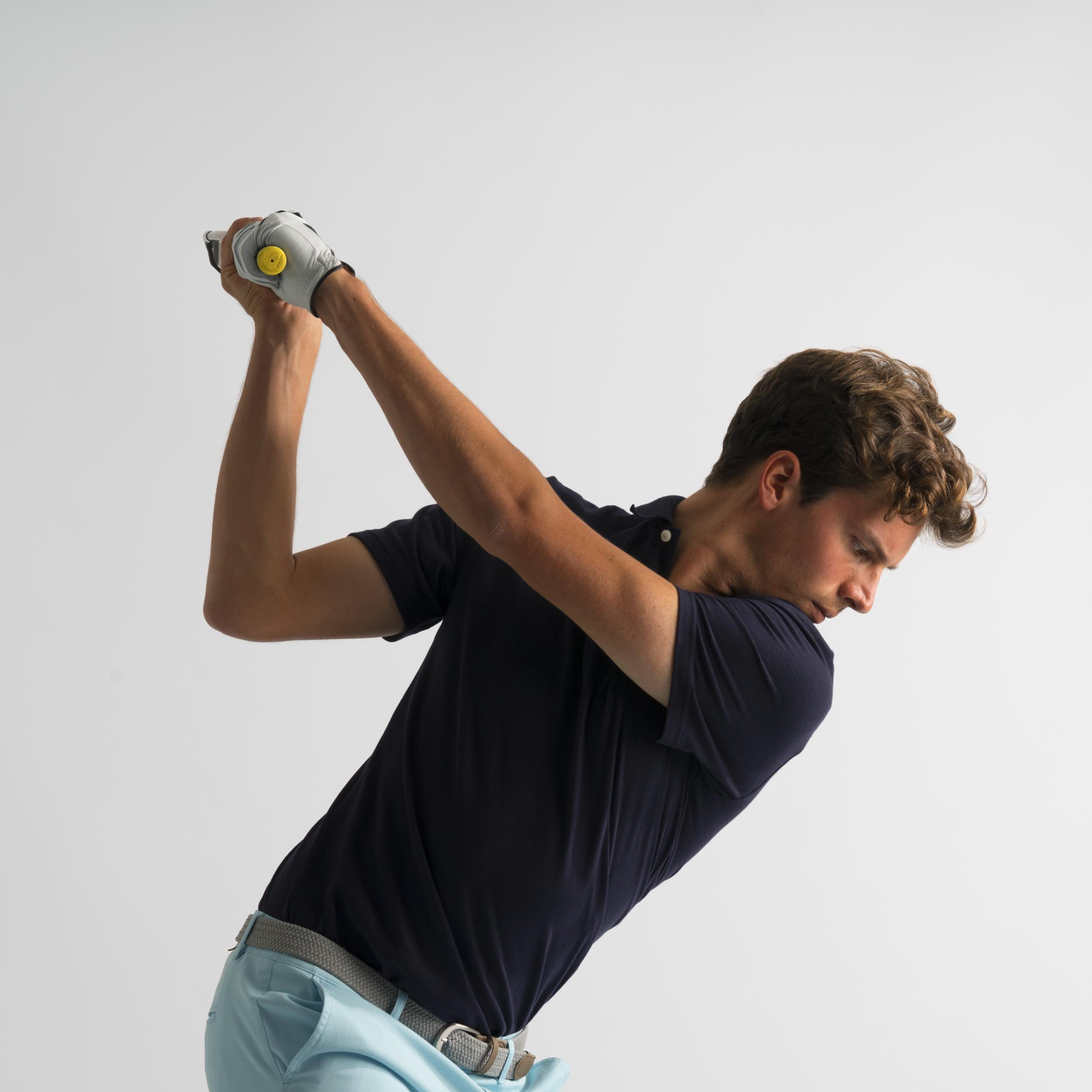 Men's Golf Polo T-Shirt 500 Denim Blue